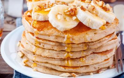 BEST Gluten-Free Banana Flax Pancake Recipe
